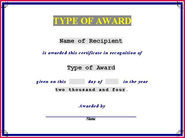 awards Award Certificate online templates