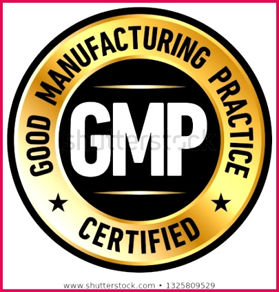 stock vector gmp good manufacturing practice certified round stamp on white background vector