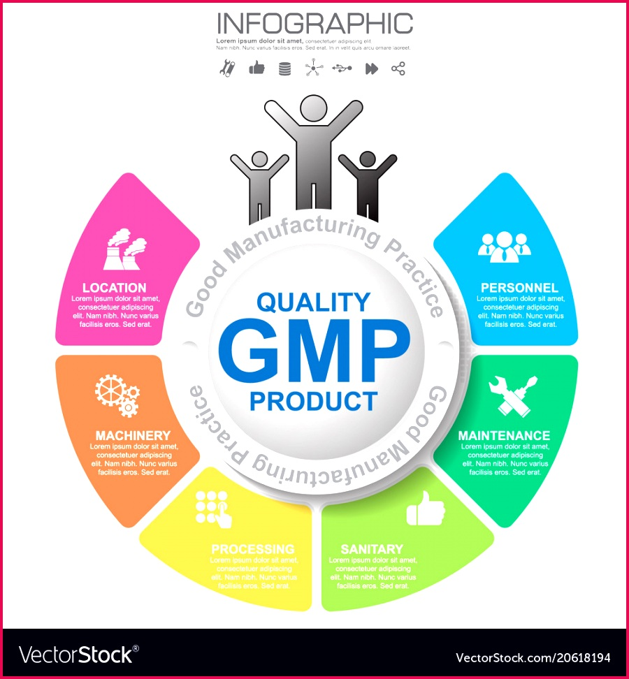 gmp good manufacturing practice 6 heading of vector