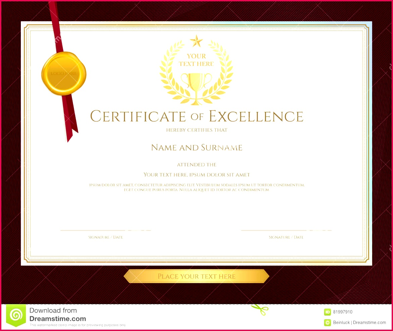 elegant certificate template excellence achievement apprec appreciation pletion red border background