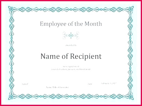 certificates gold star certificate template free for employee of the month blue chain design award