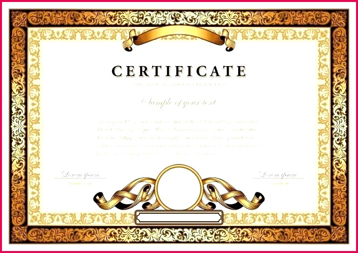vintage certificate with gold luxury stock vector business award certificate template business award certificate template word