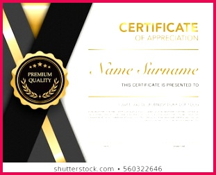diploma certificate template black gold 260nw