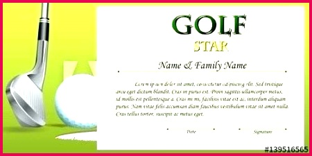 golf t certificate template luxury name a star round of