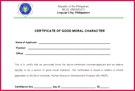 good character certificate 7