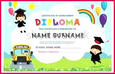 free kindergarten graduation certificate new lovely fun certificate examples