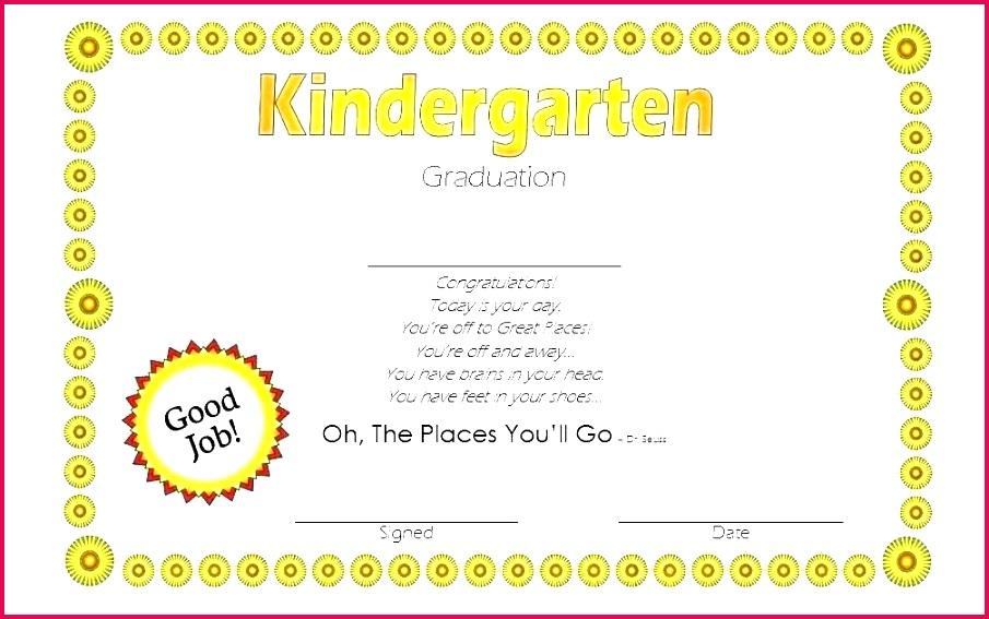 kindergarten diploma template amazing preschool certificates for products graduation certificate pre k