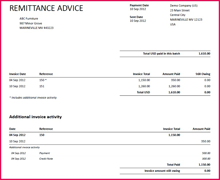sample remittance advice template 6 remittance templates word excel pdf templates of sample remittance advice template