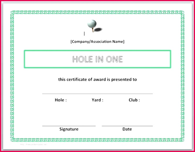 13 free certificate templates for word hole in one certificates printable of hole in one certificates printable