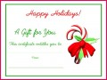 6 Holiday Gift Certificate Templates