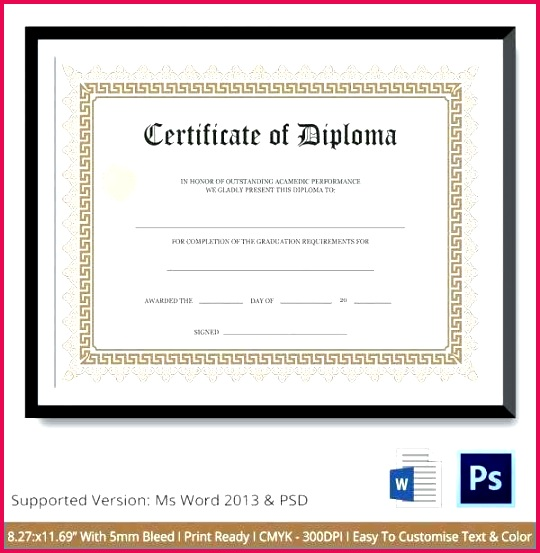 free fake high school diploma templates admirably certificate template word eps