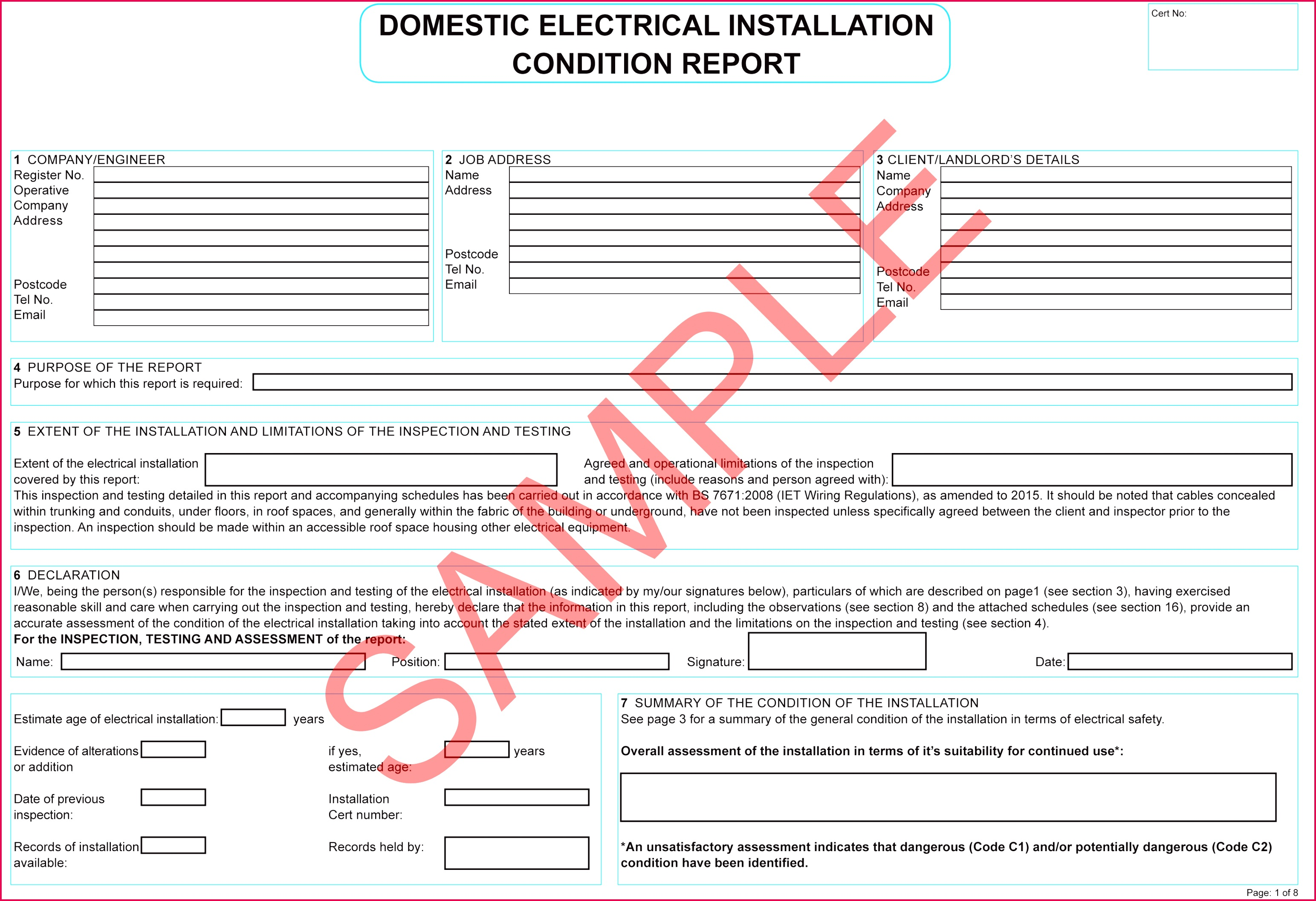 Domestic Electrical Installation Condition Report v5