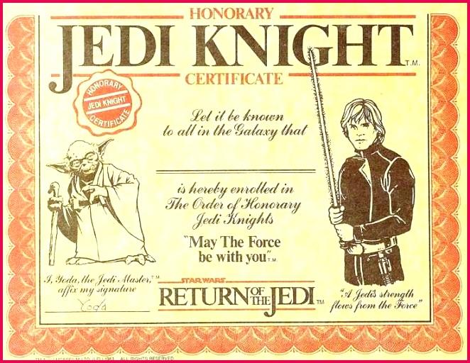 jedi certificate template free lovely star wars jedi certificate template free