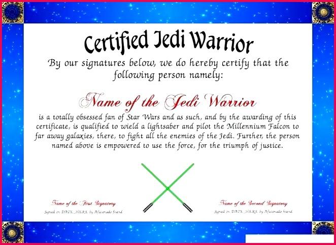 star wars certificate template printable free jedi certificates