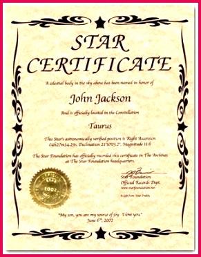 name a star certificate template shining award