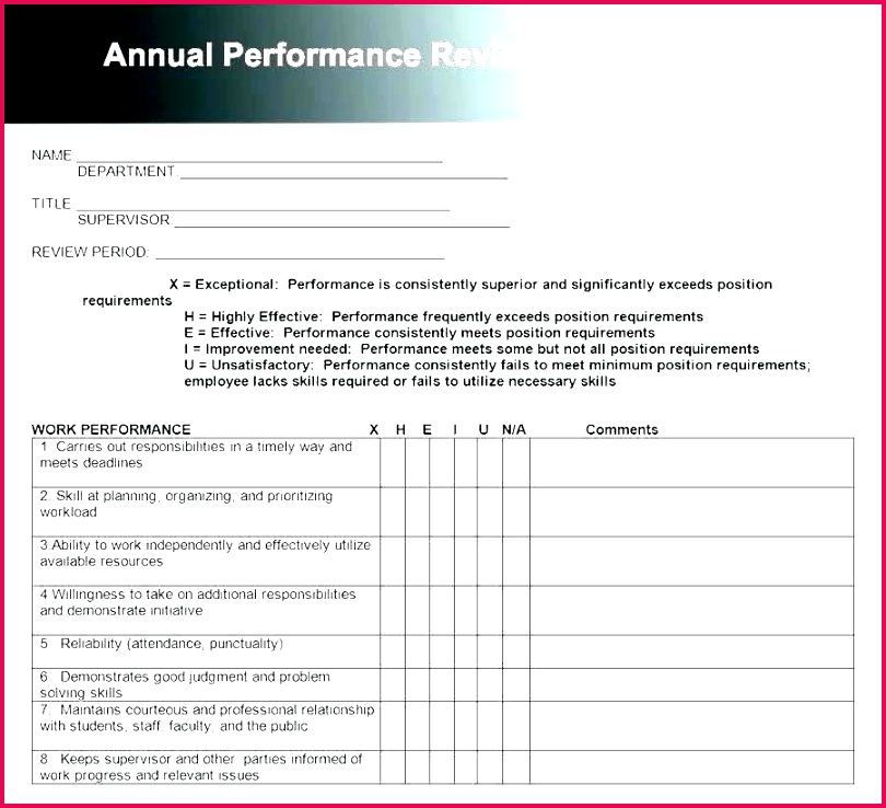 quarterly performance review form template free templates jewelry appraisal excel