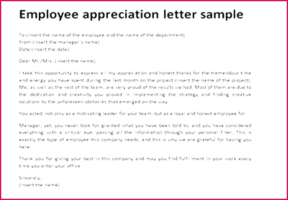 employee recognition letter examples fresh template appreciation invitation fabulous l