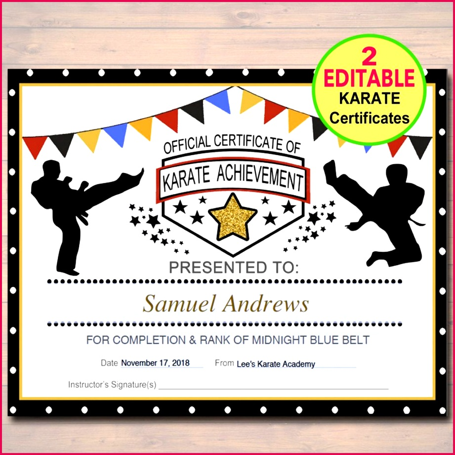 karate certificate templates free 50 editable certificates instant belt 1024x1024