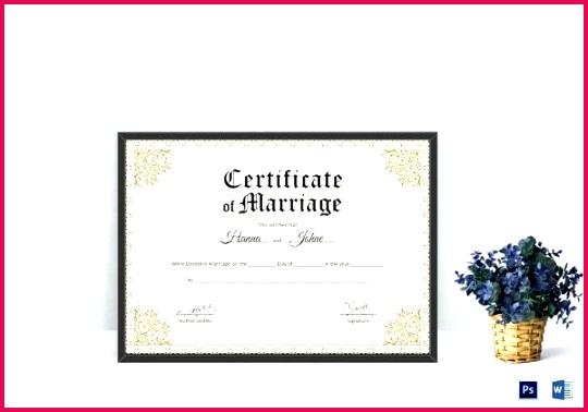 Printable Keepsake Marriage Certificate Template Blank Uk Templates