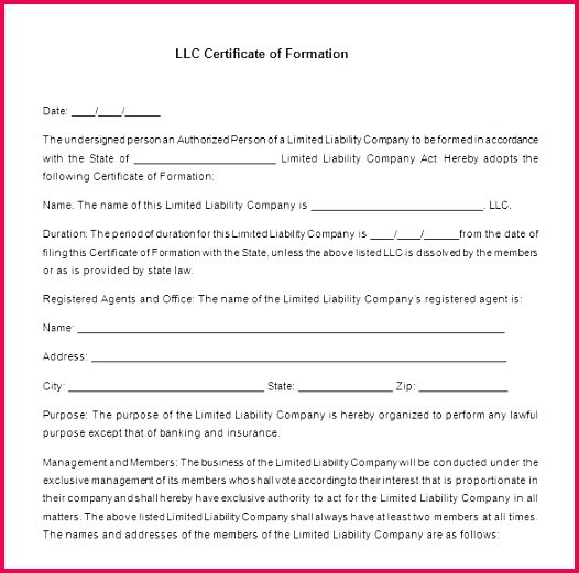 membership certificate template free llc word