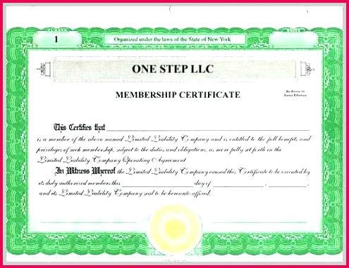 membership certificate template great of llc word