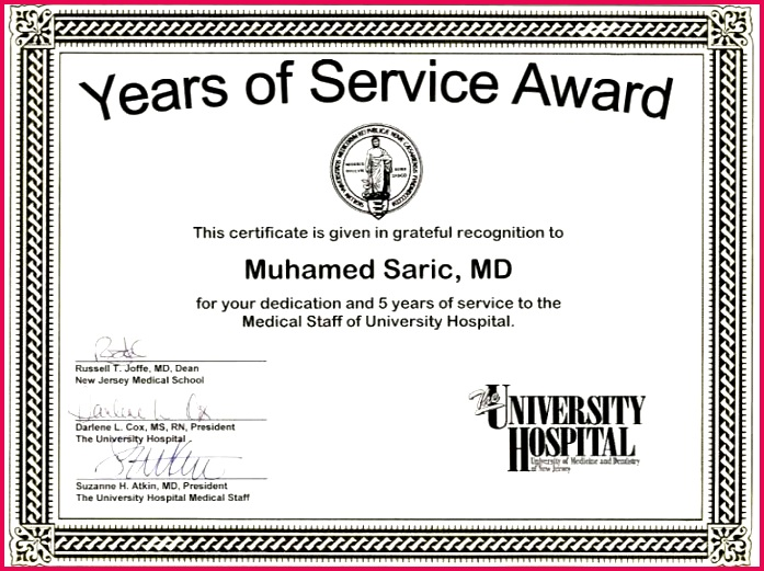 years of service certificate template good 5 award quotes