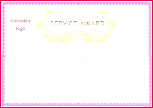 years service award template free 10 year service award certificate template 10 year service certificate template