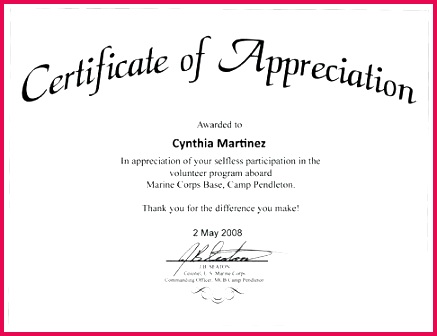 sample certificate of appreciation for pastor template