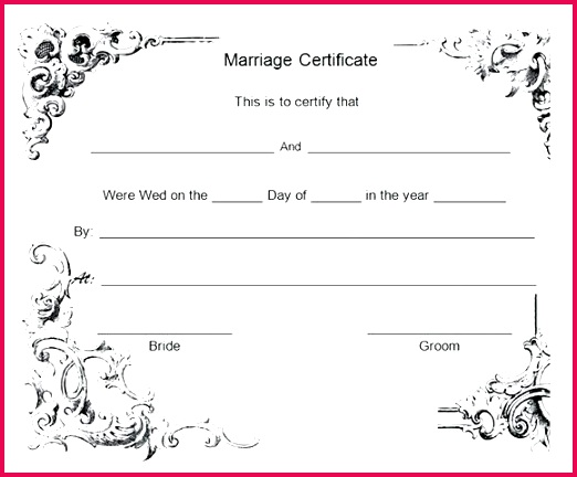 free marriage certificate template word sample templates to editable