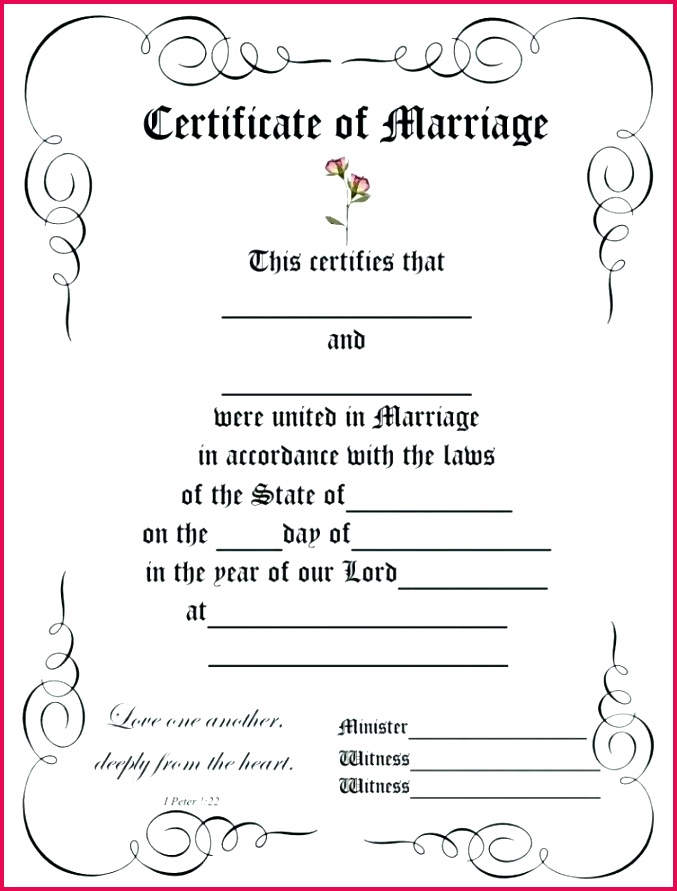 wedding certificate template amazing certificates templates printable marriage choice image india