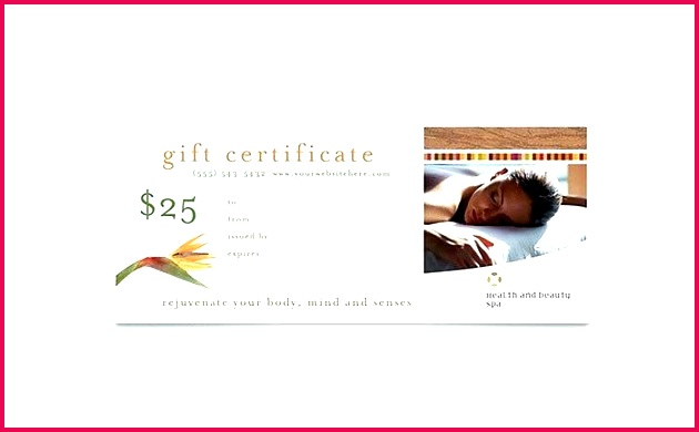 free massage t certificate template word health beauty spa publisher voucher valentines