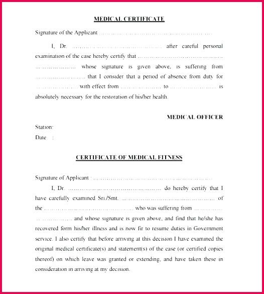 medical certificate sample useful certificates to template pdf
