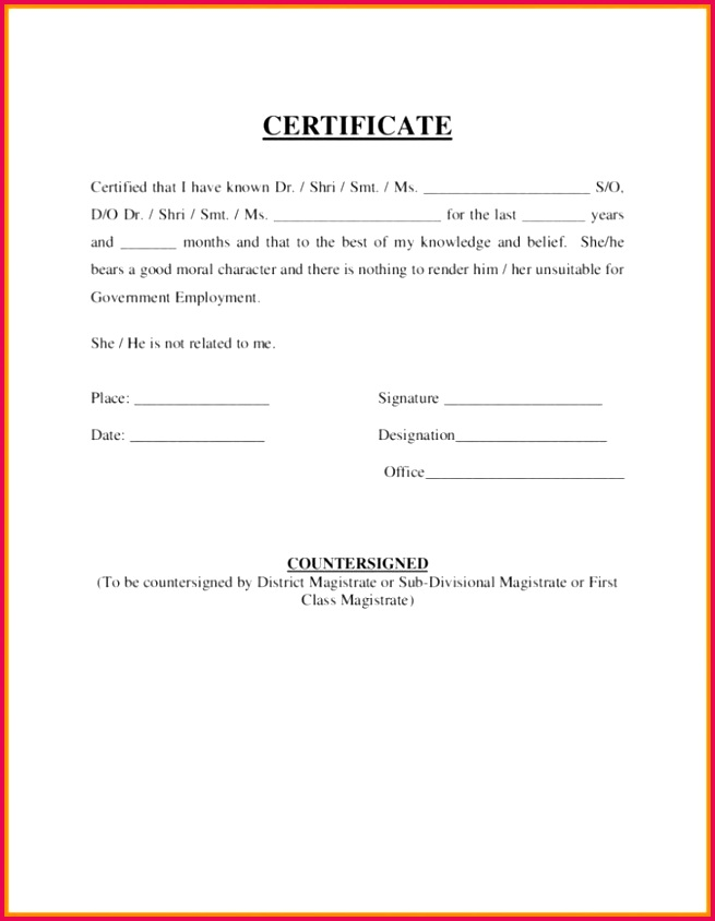 Job Employment Certificate Sample and Christian Character Employment Certificate Sample Picture