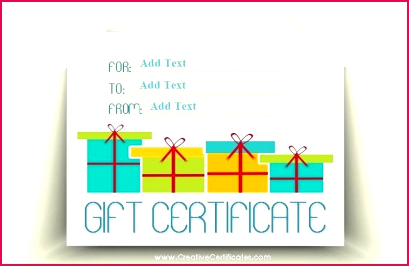 a t certificate template with presents voucher free printable templates for word