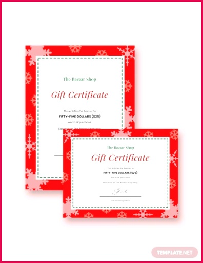modern holiday t certificate