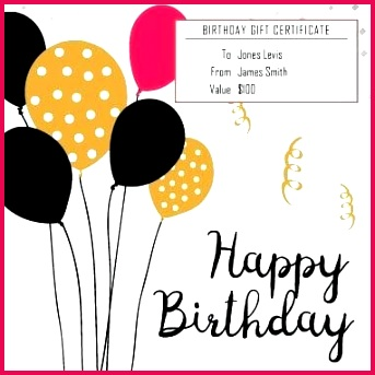 birthday t certificate template microsoft word templates