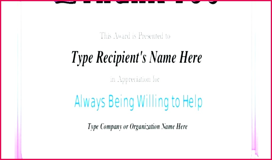 appreciation certificate template for employee of word appre