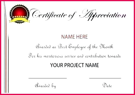 employee recognition certificate template certificates appreciation word sample wording day empl