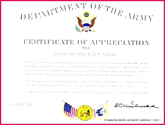department of the army certificate appreciation free sample example template word f letter mendation mandants ribbon coast guard re mendation