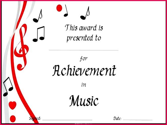 music award certificate music certificate template templates 9 best certificates winner