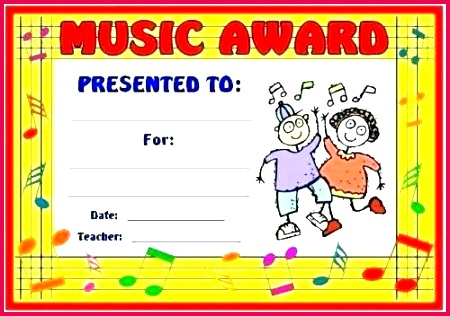 music award certificate template bined with school awards certificates art and printable for kids templates