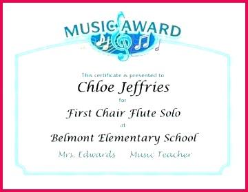 free music certificate templates printable award template word