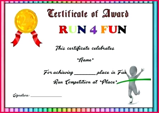 fun run certificate template fun run place award certificate templates for quotes drawing petition certificate template petition certificate template