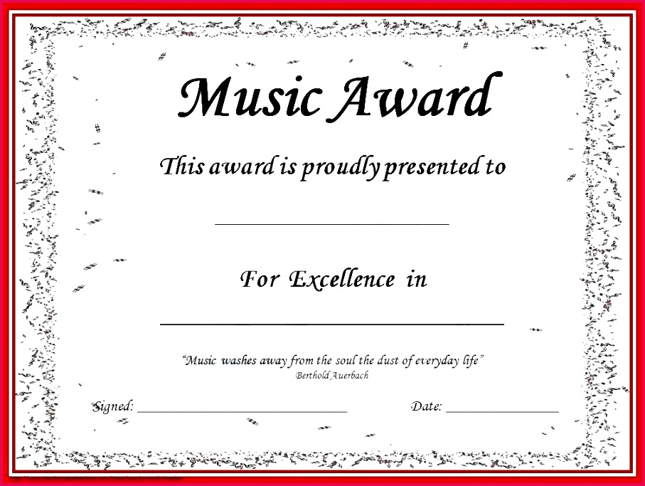 free award certificate templates template printable achievement music awards editable certificates for students certificat