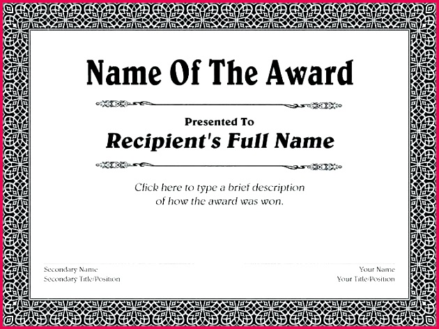 music award template certificate word free printable certificates post superlative of achievement office world