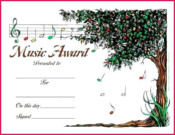 choir certificate template music awards certificates templates free printable award
