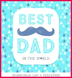 typographic fathers day card mustache 260nw