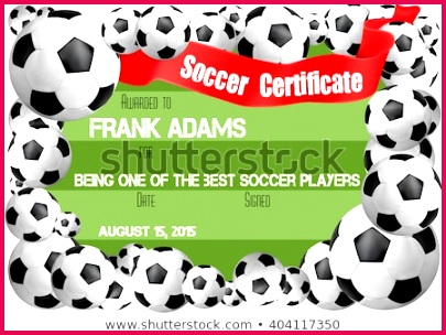 soccer certificate template football ball 450w