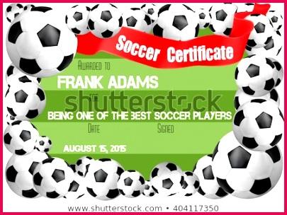 soccer certificate template football ball 450w