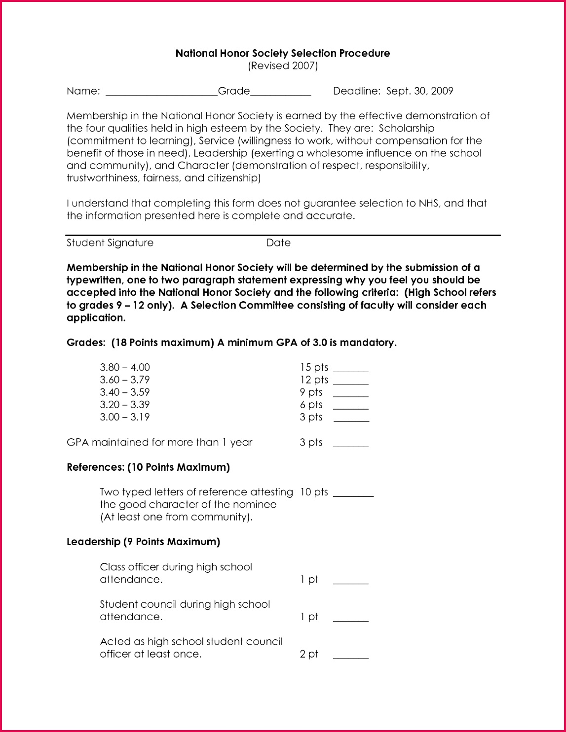 national honor societydation letter example personal sample of nhs letter of re mendation template